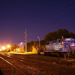 (Ex-CR) NS GP38-2 #5297 rest on NS Harrington yard