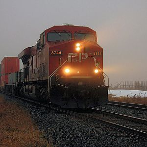 CP Rail #7844  Heavy Fog