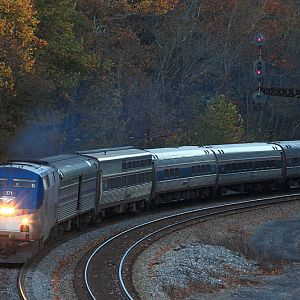 AMTRAK PO50 at Hillsdale, WV