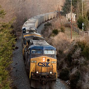 Hopper Train Westbound Through Crozet, VA