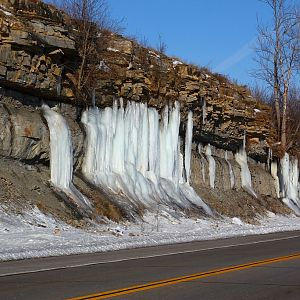 Icicles  Along the Road