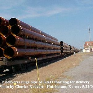 UP hands over huge pipe to K&O