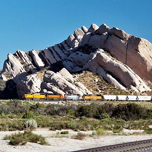 UP 2281 at Mormon Rocks