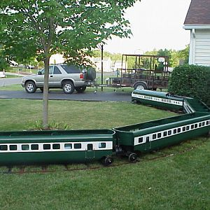 Our Train in the front yard