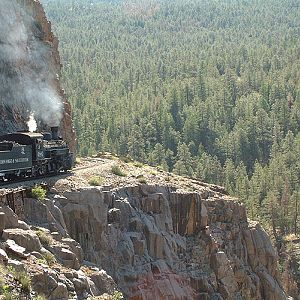 "Durango & Silverton RR - On the ""High Line"""