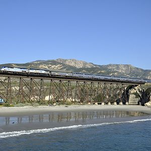 The Coast Starlight at Gaviota