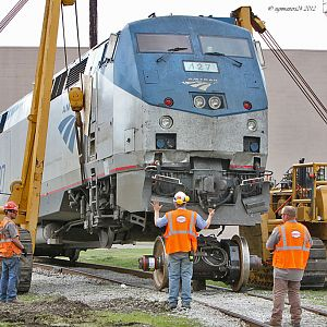 Amtrak #127 repair Dowagiac