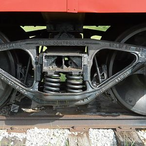 Undercarriage detail, Frisco #1150 Caboose