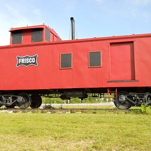 Another view of Frisco #1150 Caboose