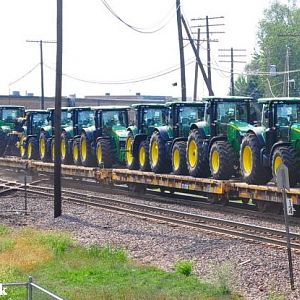 tractors at the diamond