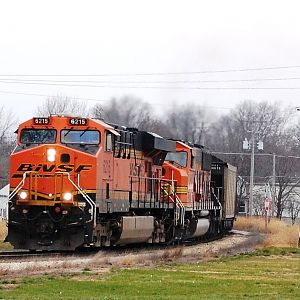 BNSF Unit Coal Train Delavan Illinois