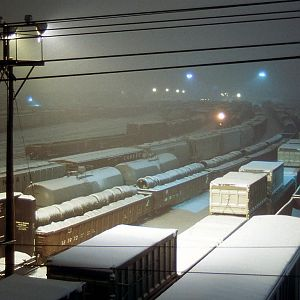 Snow Freight Yard