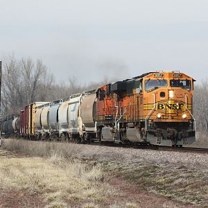 Westbound Mixed Freight at Clarksville, MO