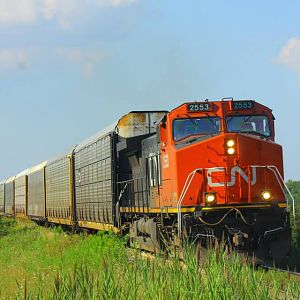 CN 563 on a Hot Day