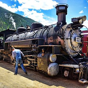 Durango-Silverton Railroad steam engine