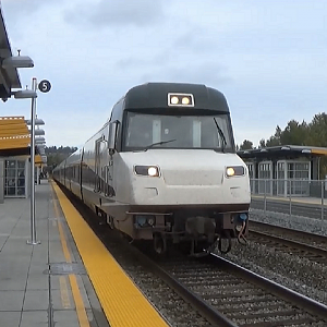 Amtrak Cascades Train At Tukwila