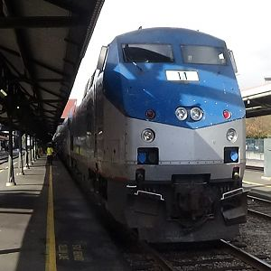 Amtrak Coast Starlight At Portland Union Station