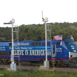 Kerry Campaign Rail Tour thru New Mexico