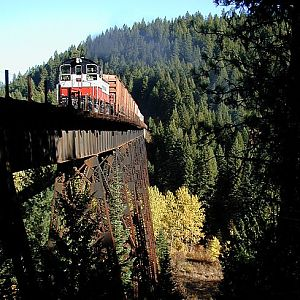 STMA 501 hammers across the Pedee Trestle
