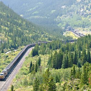 UP Coal empties westbound at Moffat Tunnel