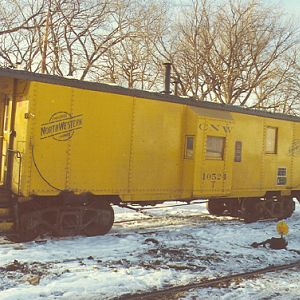 Caboose at Cedar Lake Yard