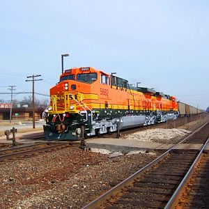 Brand new BNSF AC44s at Downers Grove, IL
