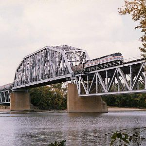 Illinois River bridge at Chillicothe, IL.
