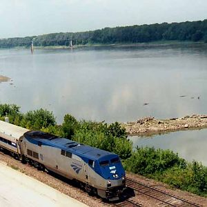 Amtrak Along The Mighty MO.